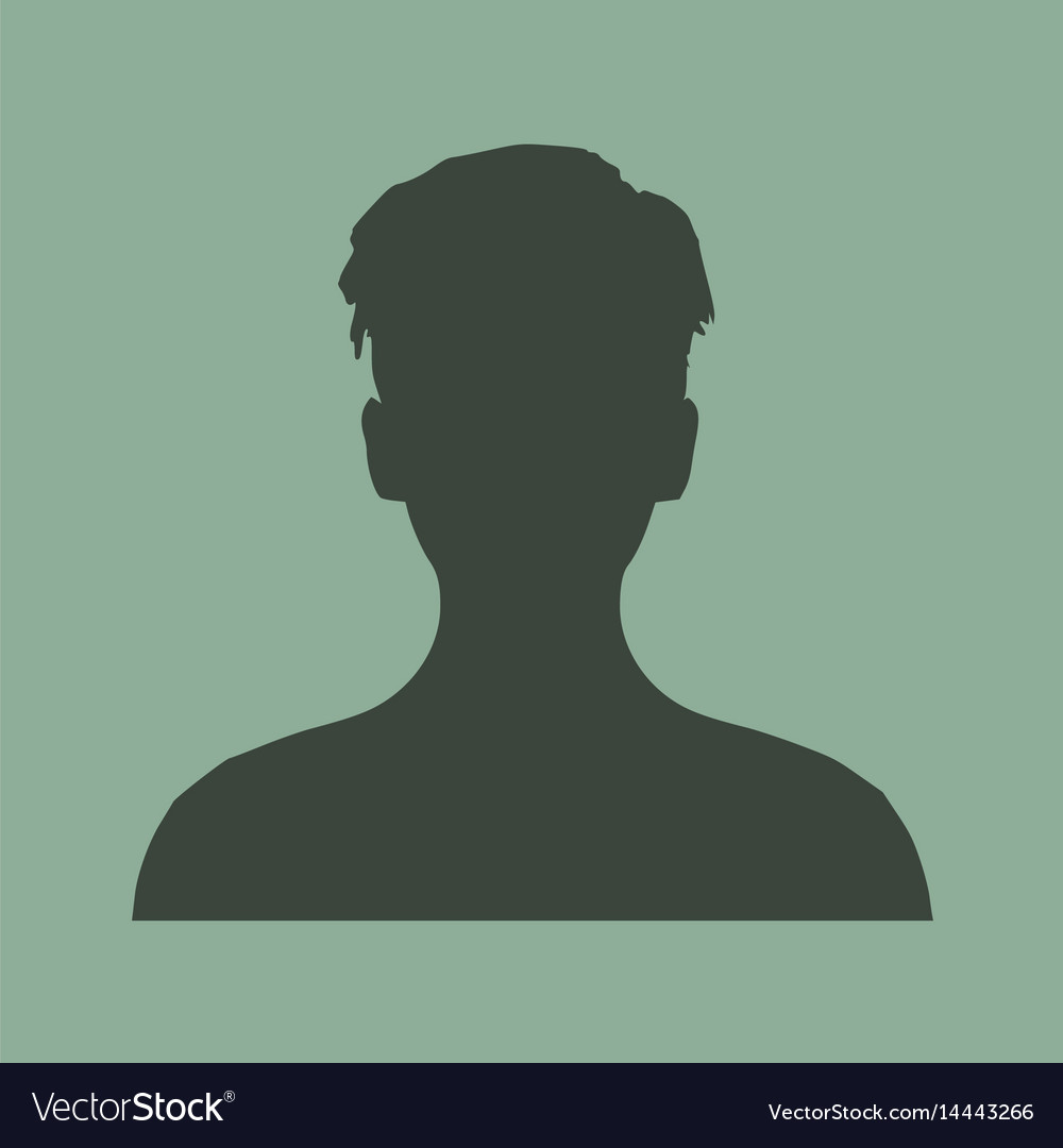 silhouette of a female head face front view vector image