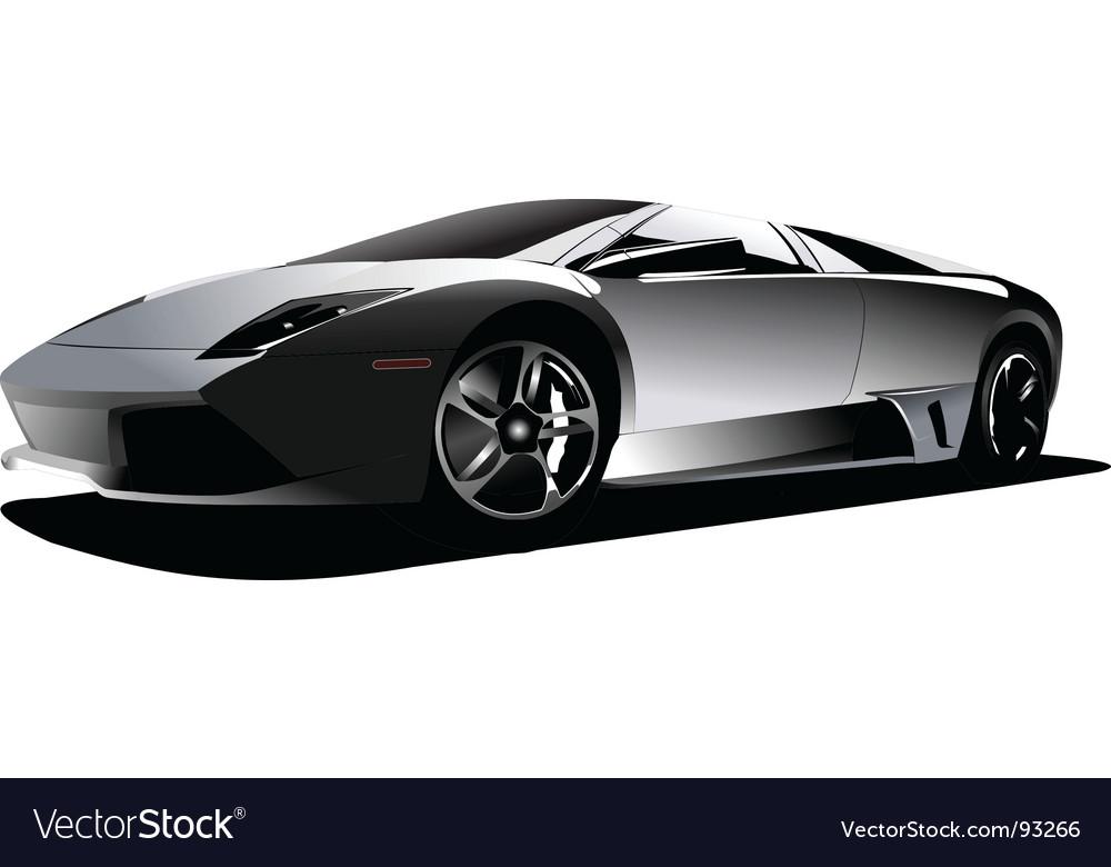 Sports Car Royalty Free Vector Image Vectorstock