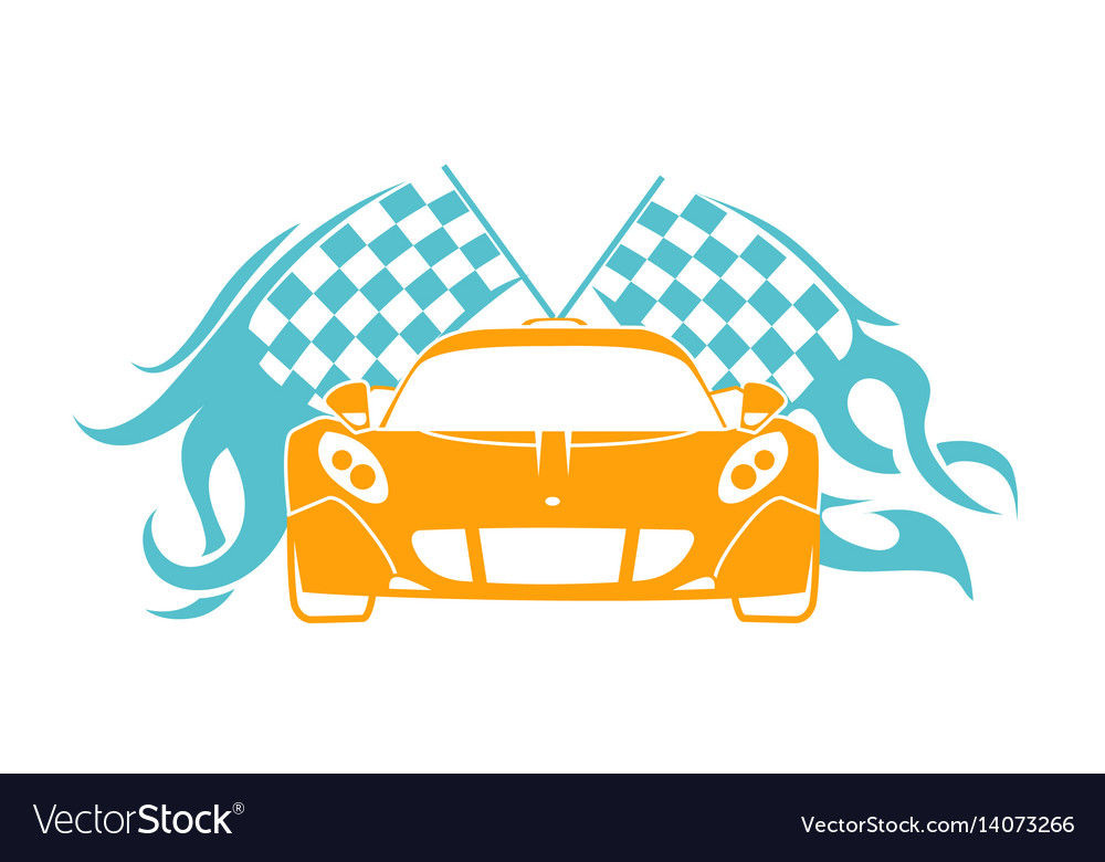 Sports cars flat style vector image