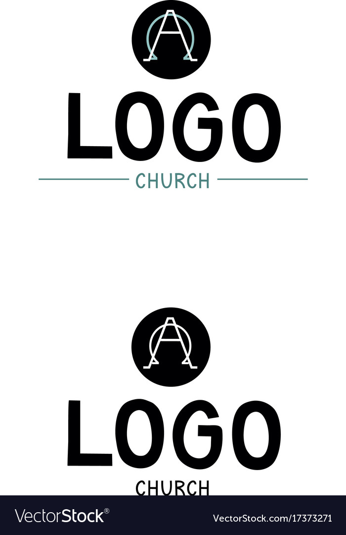 Church logo with the alpha and omega