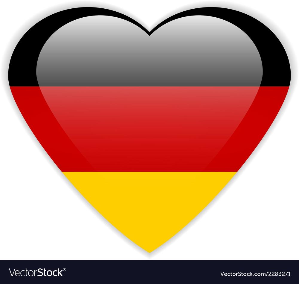 German flag button Royalty Free Vector Image VectorStock