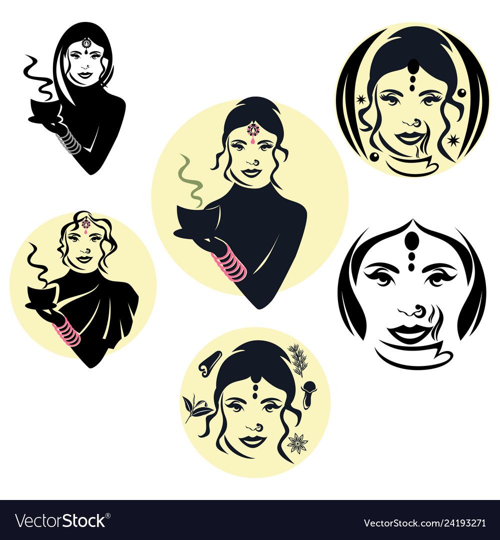 Indian woman logo