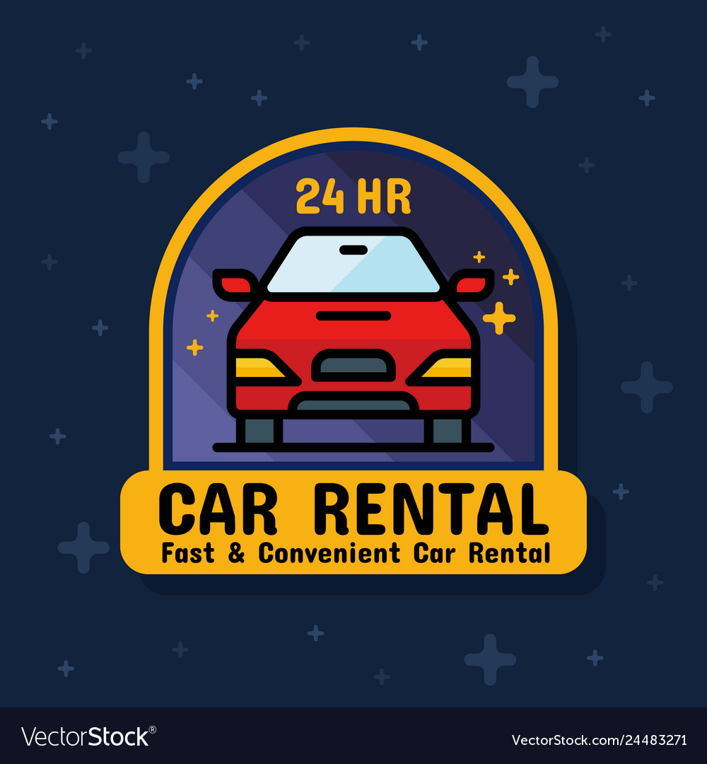Rental car service badge sticker banner