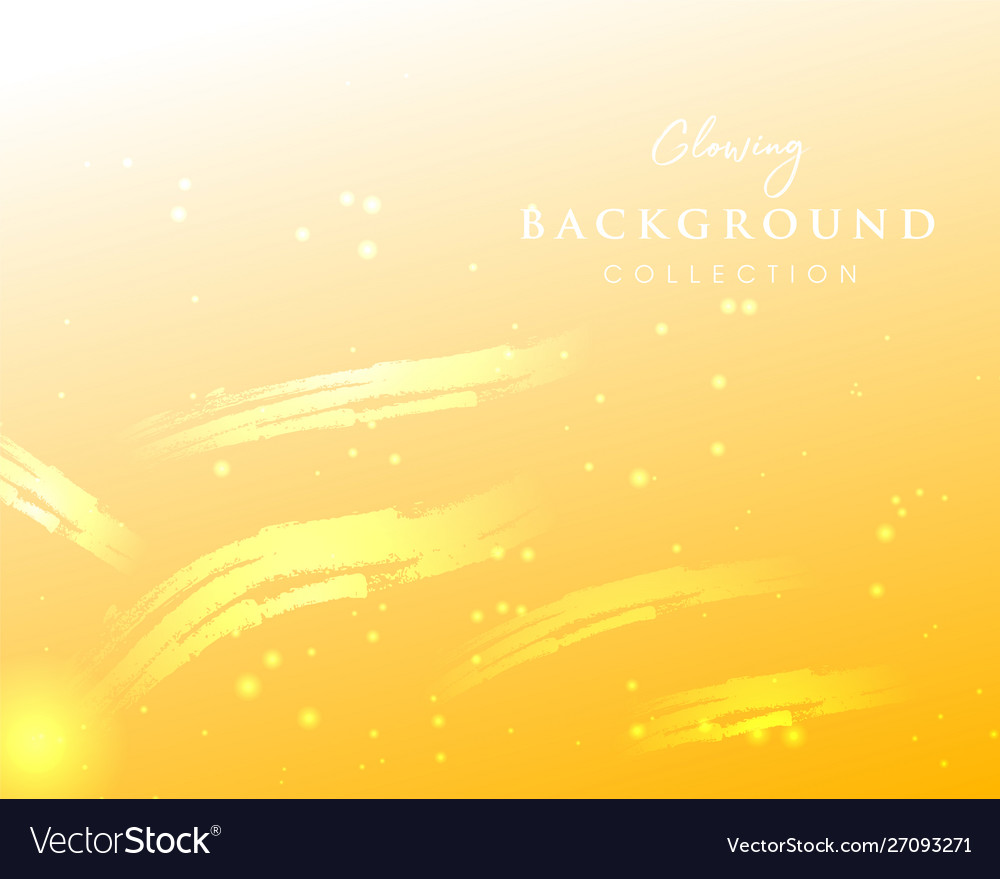 Yellow abstract glowing golden background