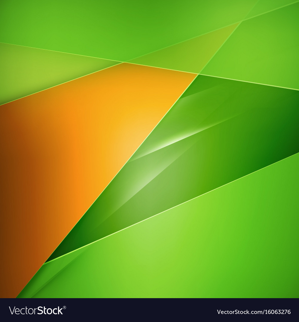 Abstract Background Green And Orange Background