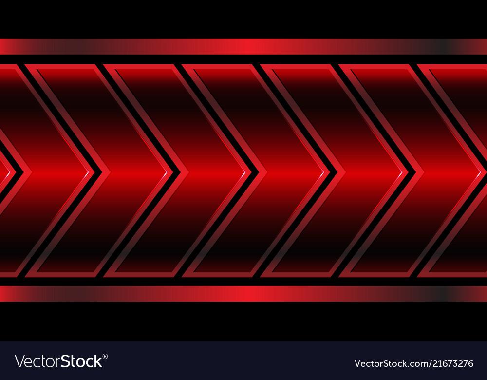 Abstract red metallic arrow pattern on black
