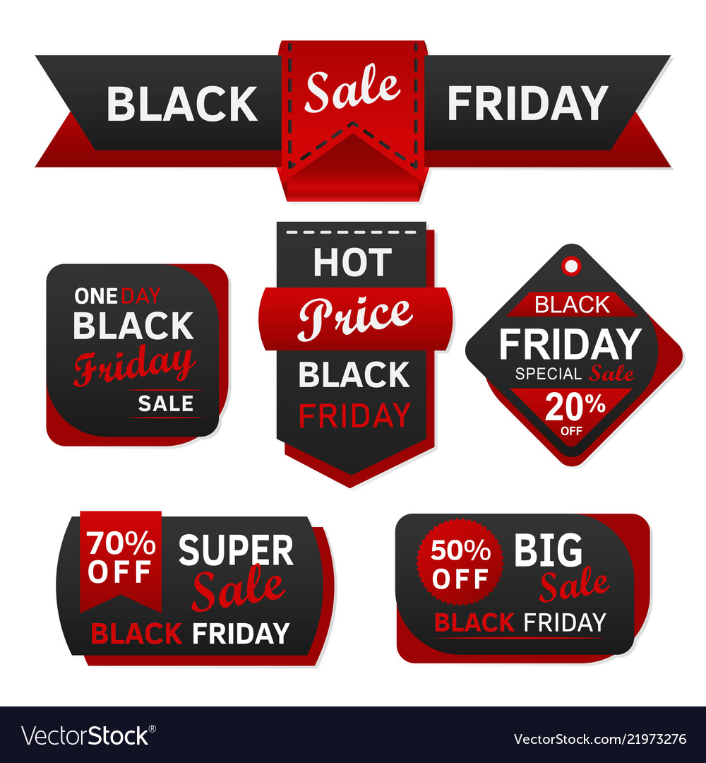 Black friday sale red and black design