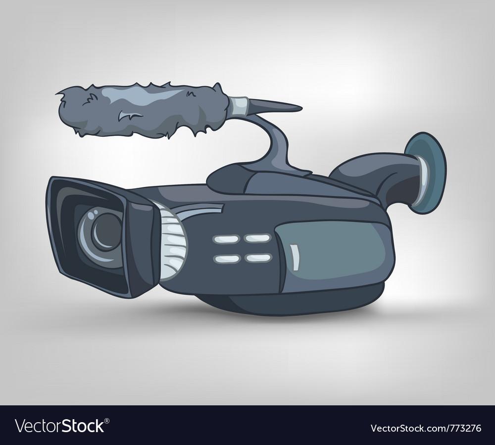 Cartoon video camera vector image