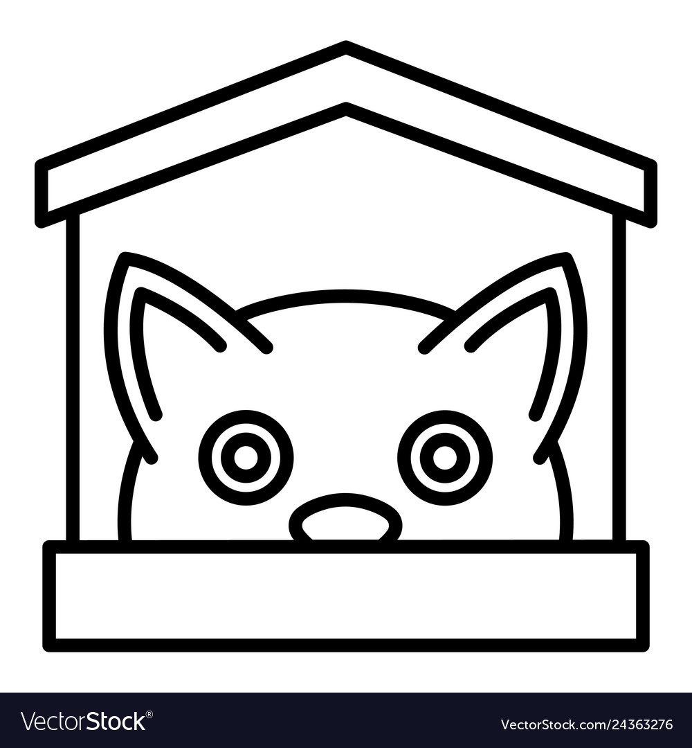 Awe Inspiring Cat In House Icon Outline Style Home Interior And Landscaping Synyenasavecom