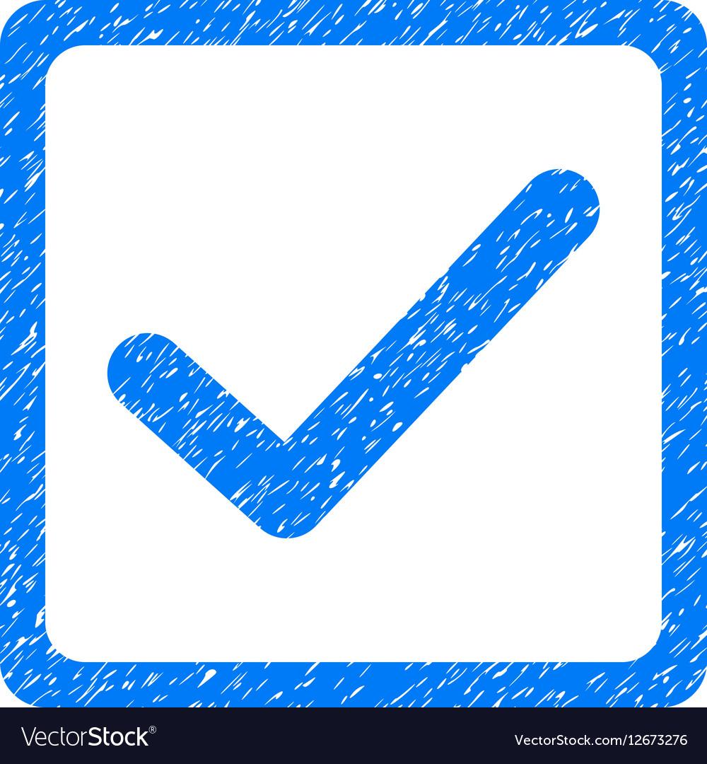 Checkbox Grainy Texture Icon vector image