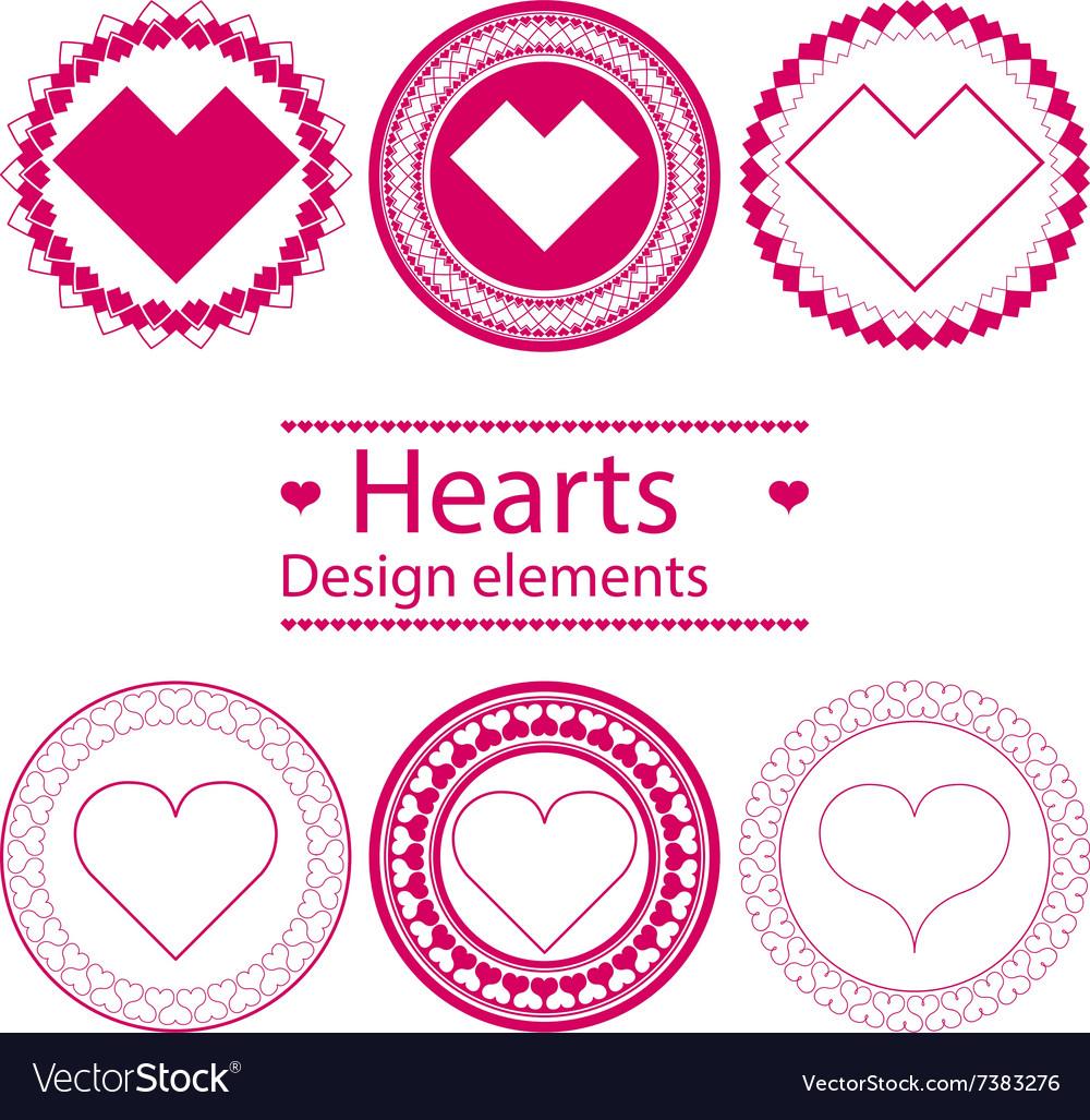 Hearts design elements