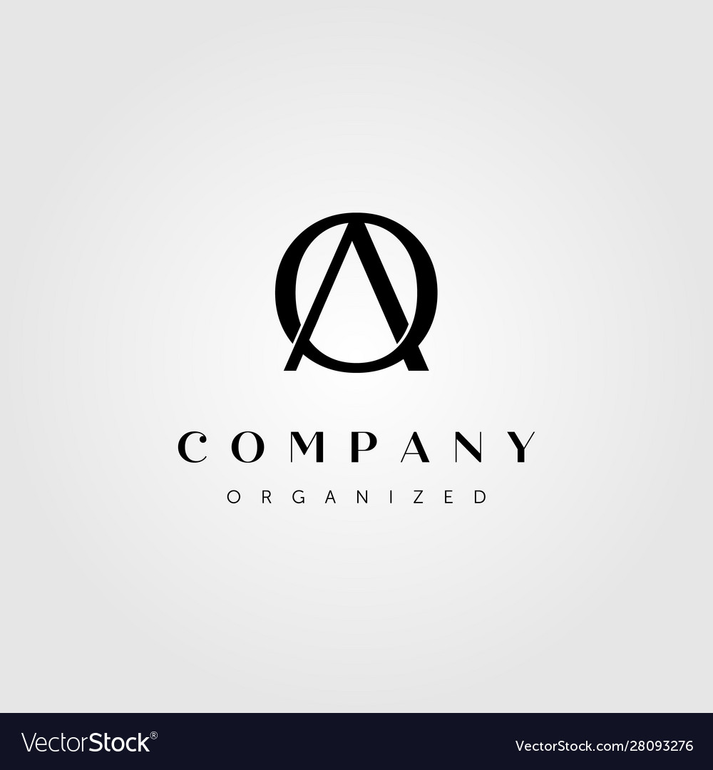 Initial letter a o logo design