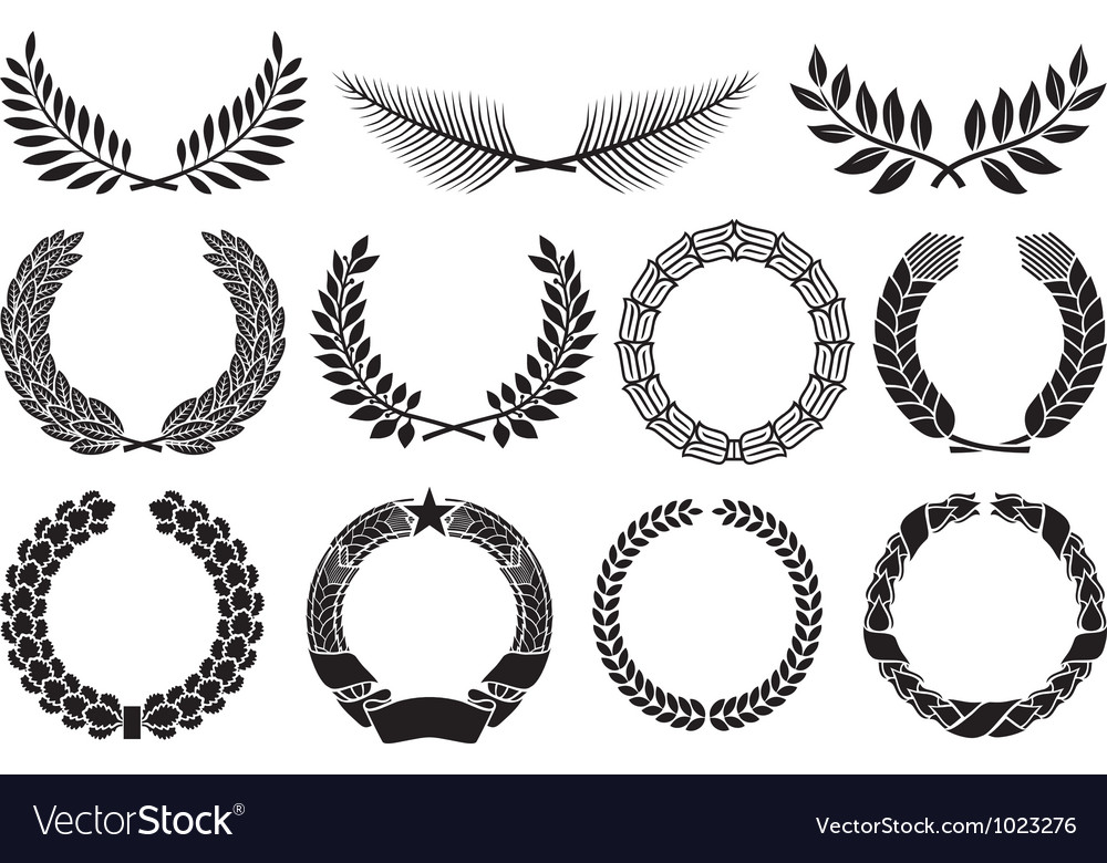 Laurel wreath collection Royalty Free Vector Image