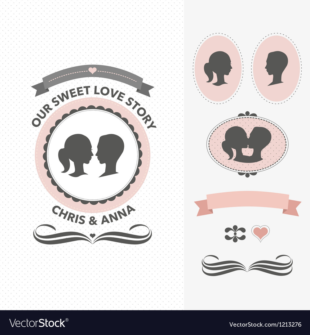 Our sweet love story vector image