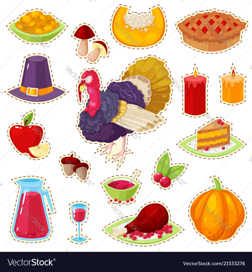 Stickers for thanksgiving day