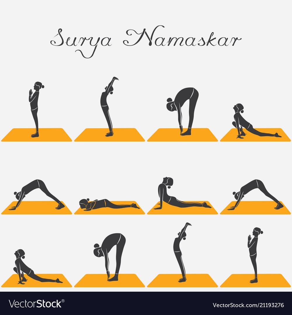 Woman doing surya namaskar