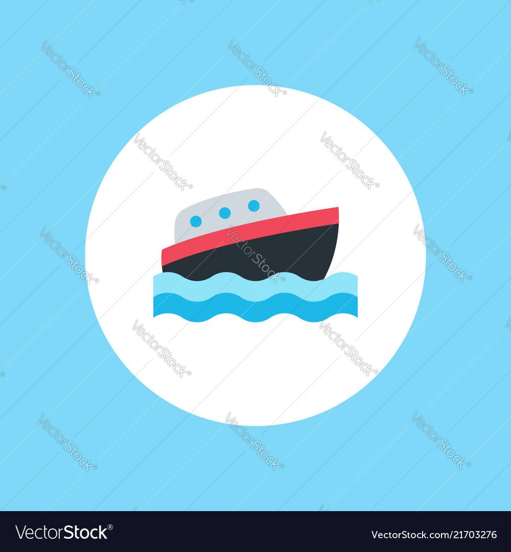 Yacht icon sign symbol