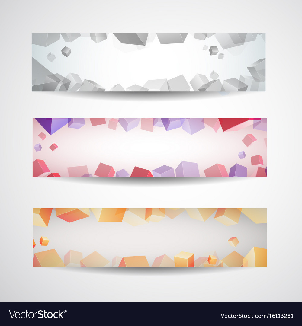 Abstract colored banner set