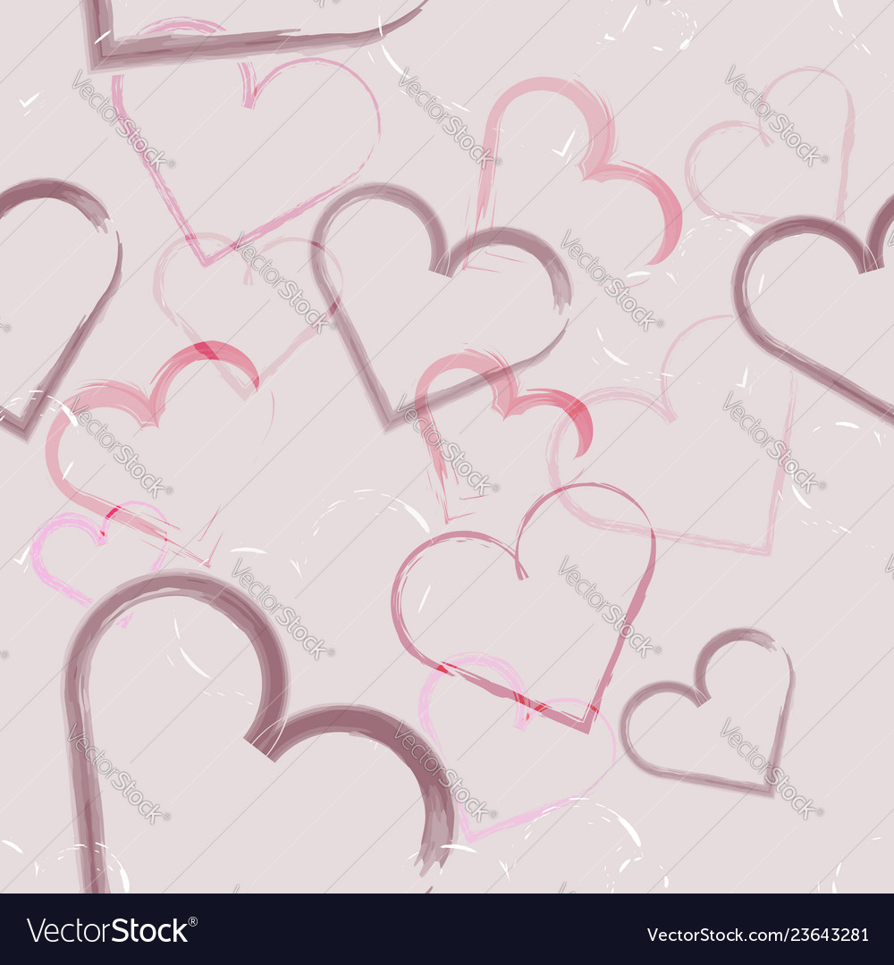 Abstract seamless of hearts for valentines day