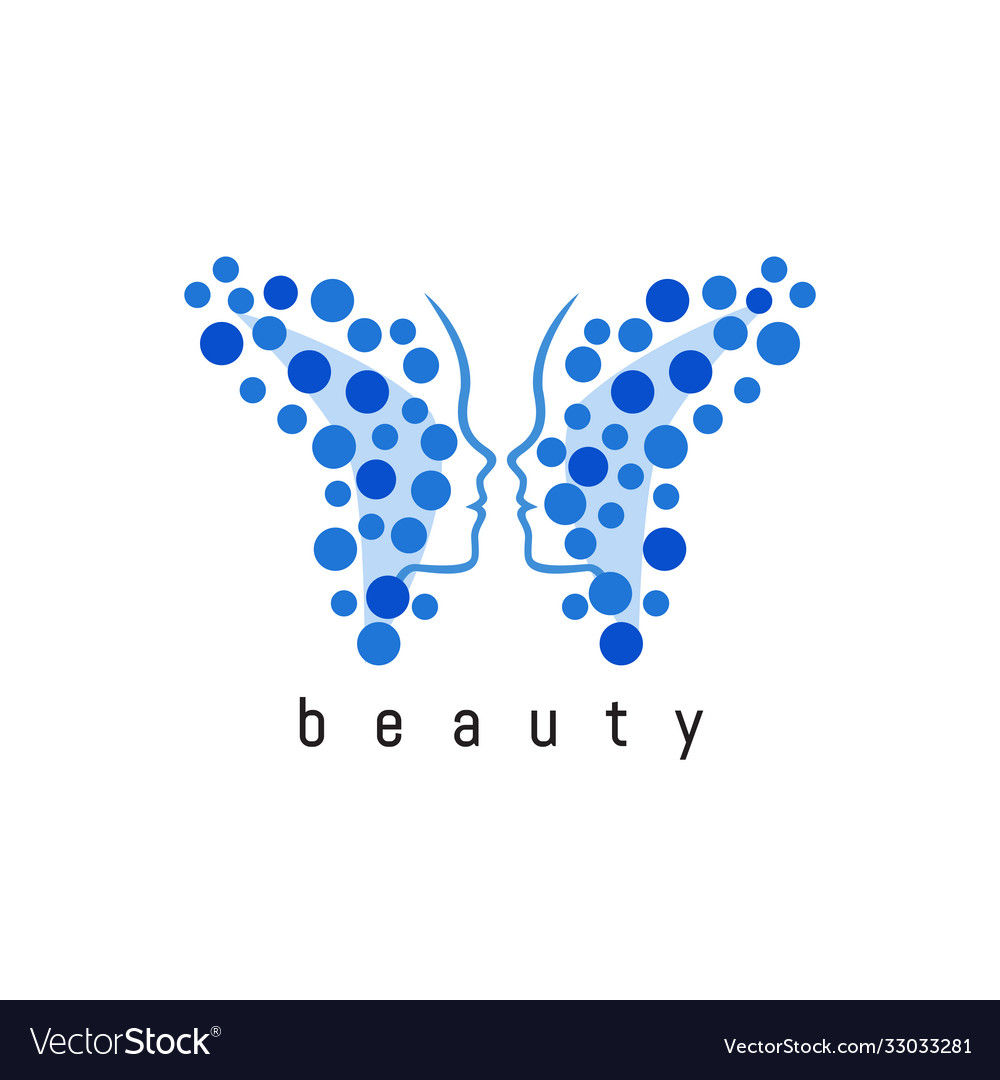 Butterfly abstract logo