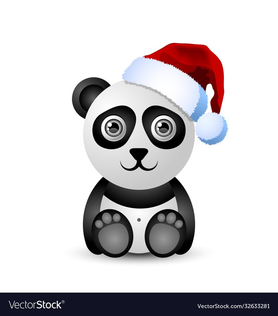 Cute and funny christmas panda character