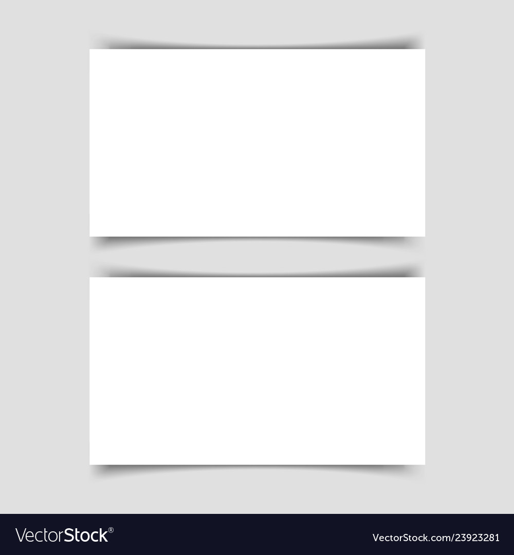Mok-up of two horizontal business cards