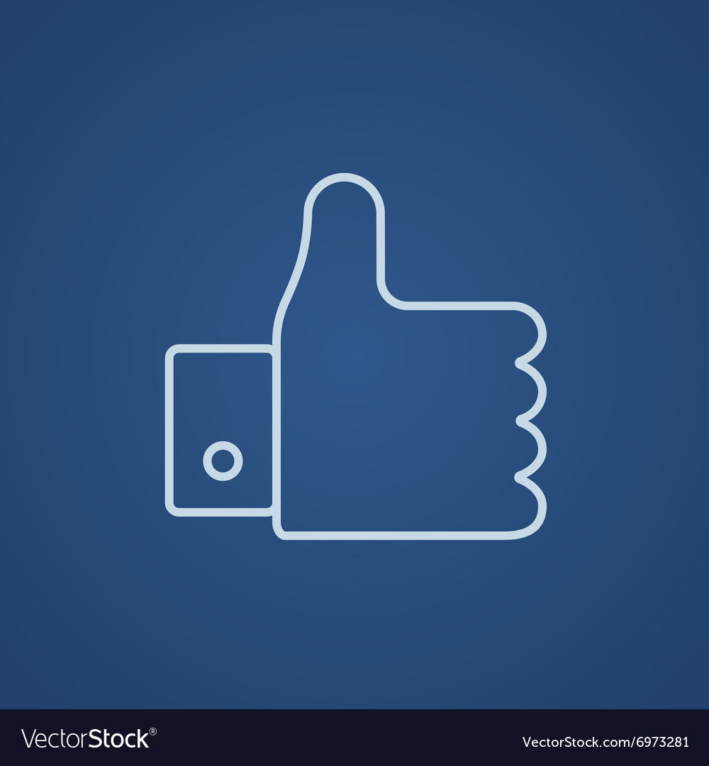 Thumb up line icon