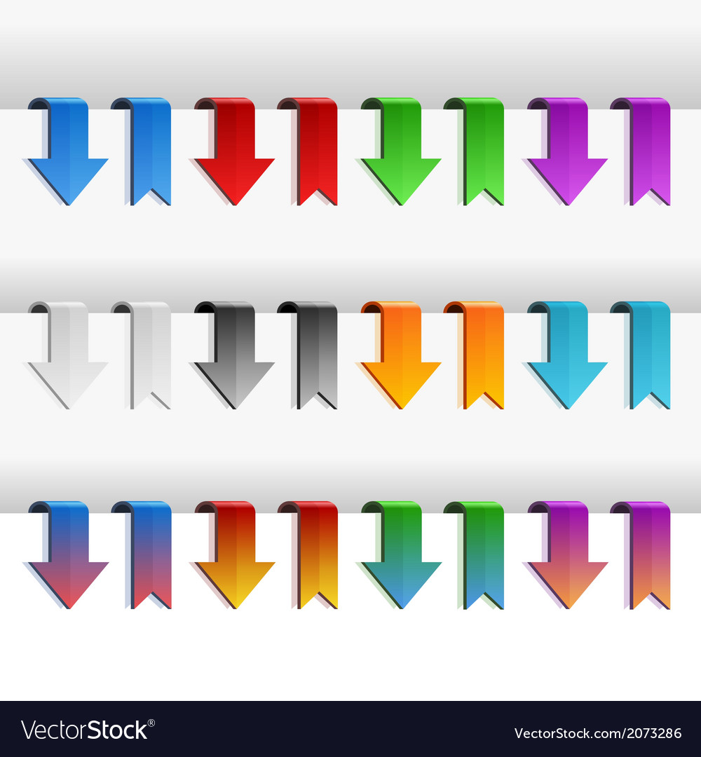 Color Ribbons and Arrows Set vector image