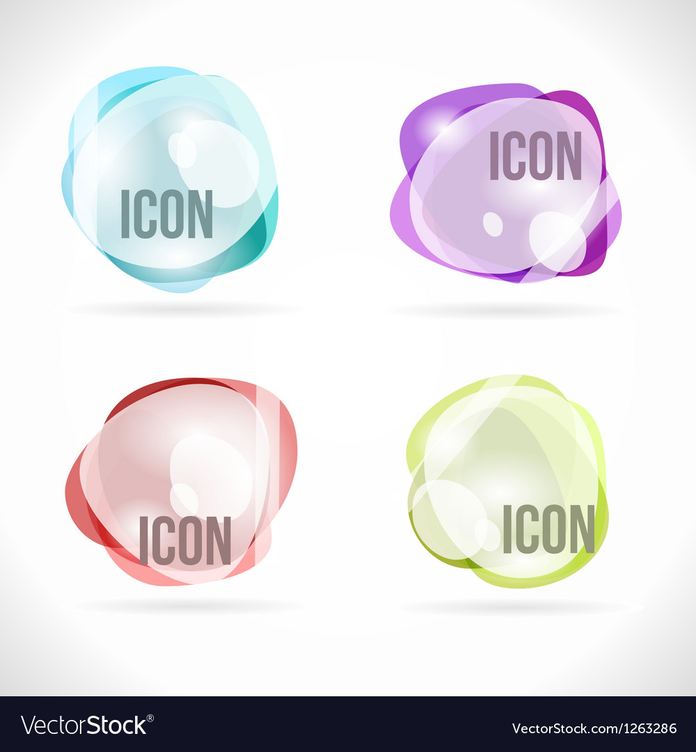 Colorful Bubbles Abstract Design Elements
