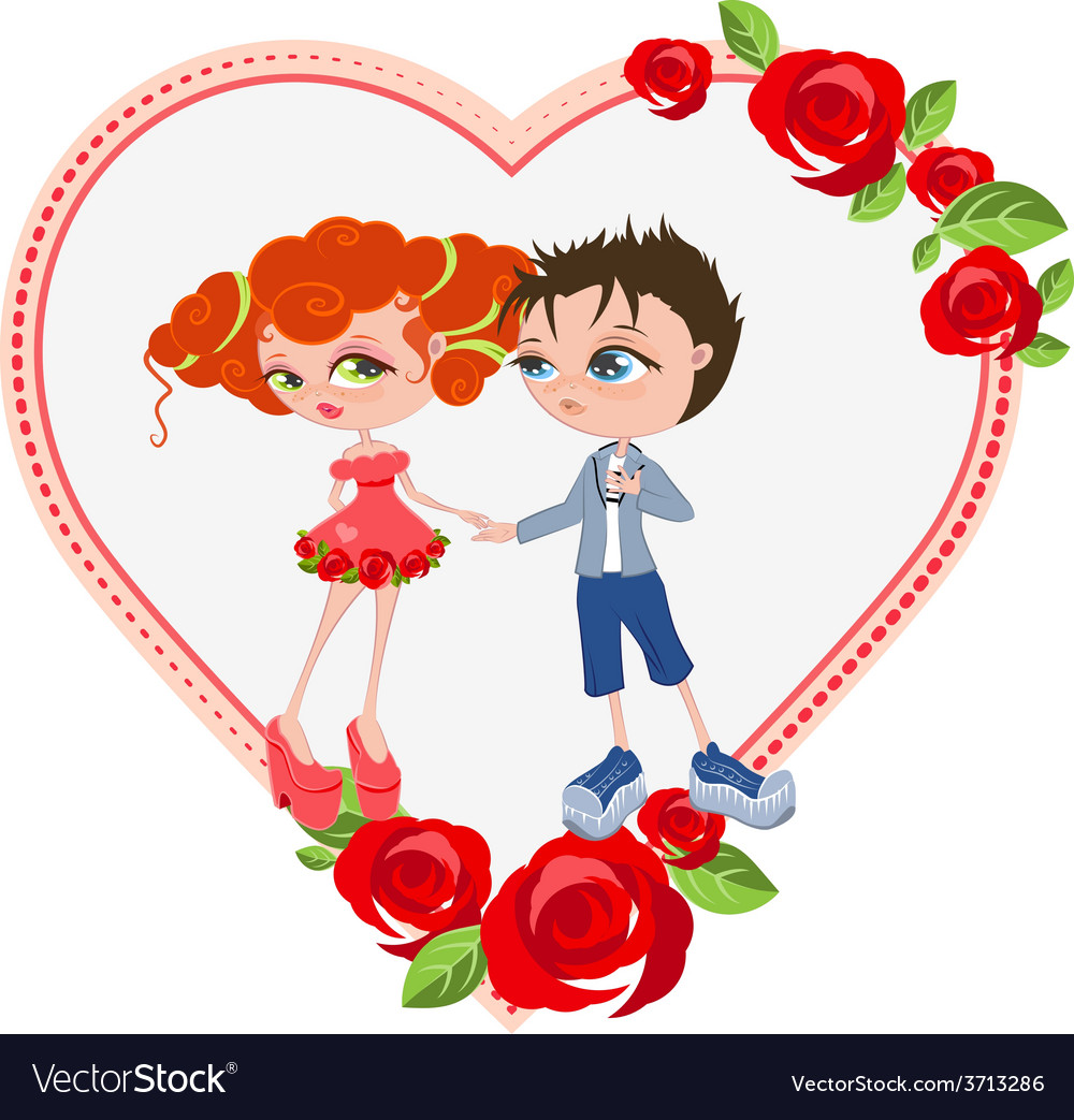 Couple in love Template valentines card