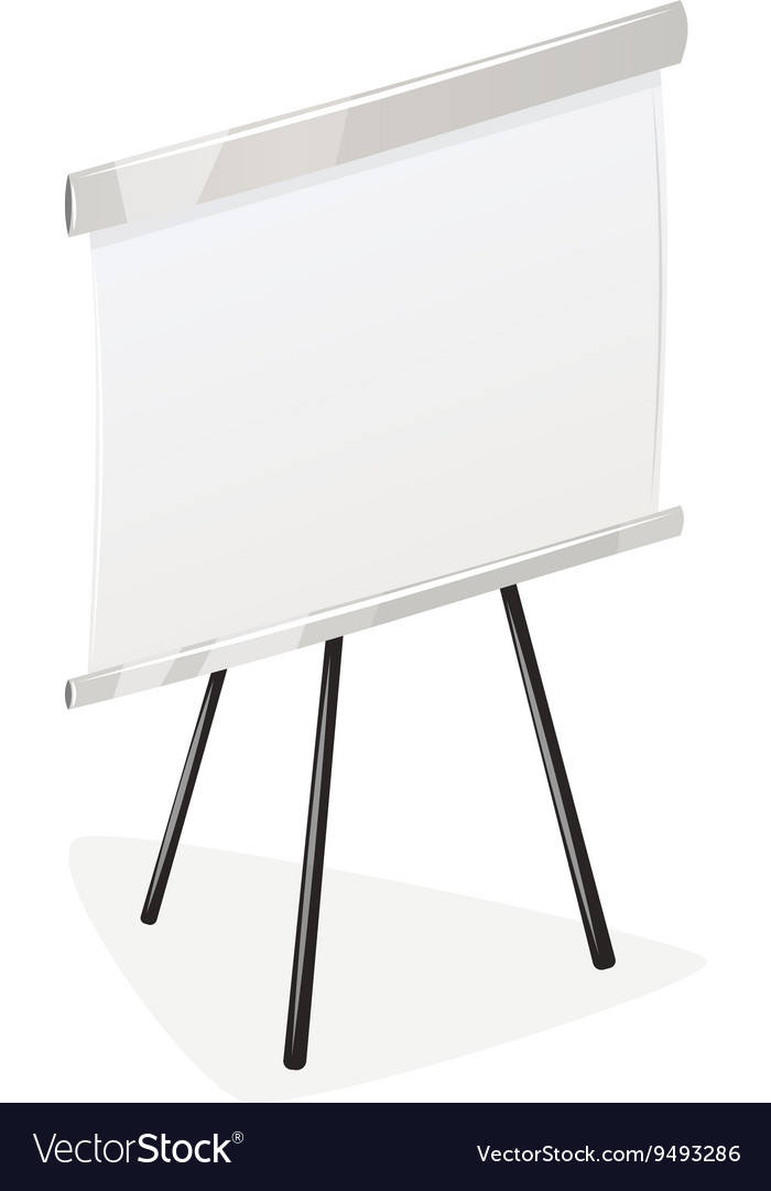 Flip chart isolated vector image