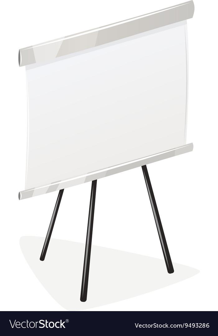 Flip chart isolated