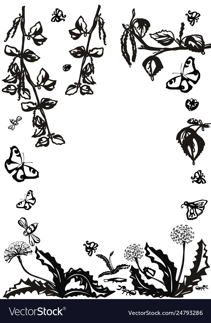 Floral set graphic collection with leaves