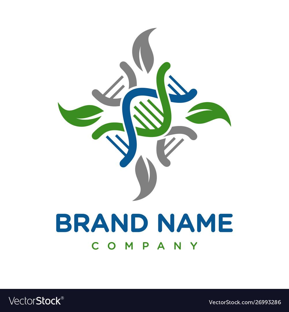 Natural genetic logo design