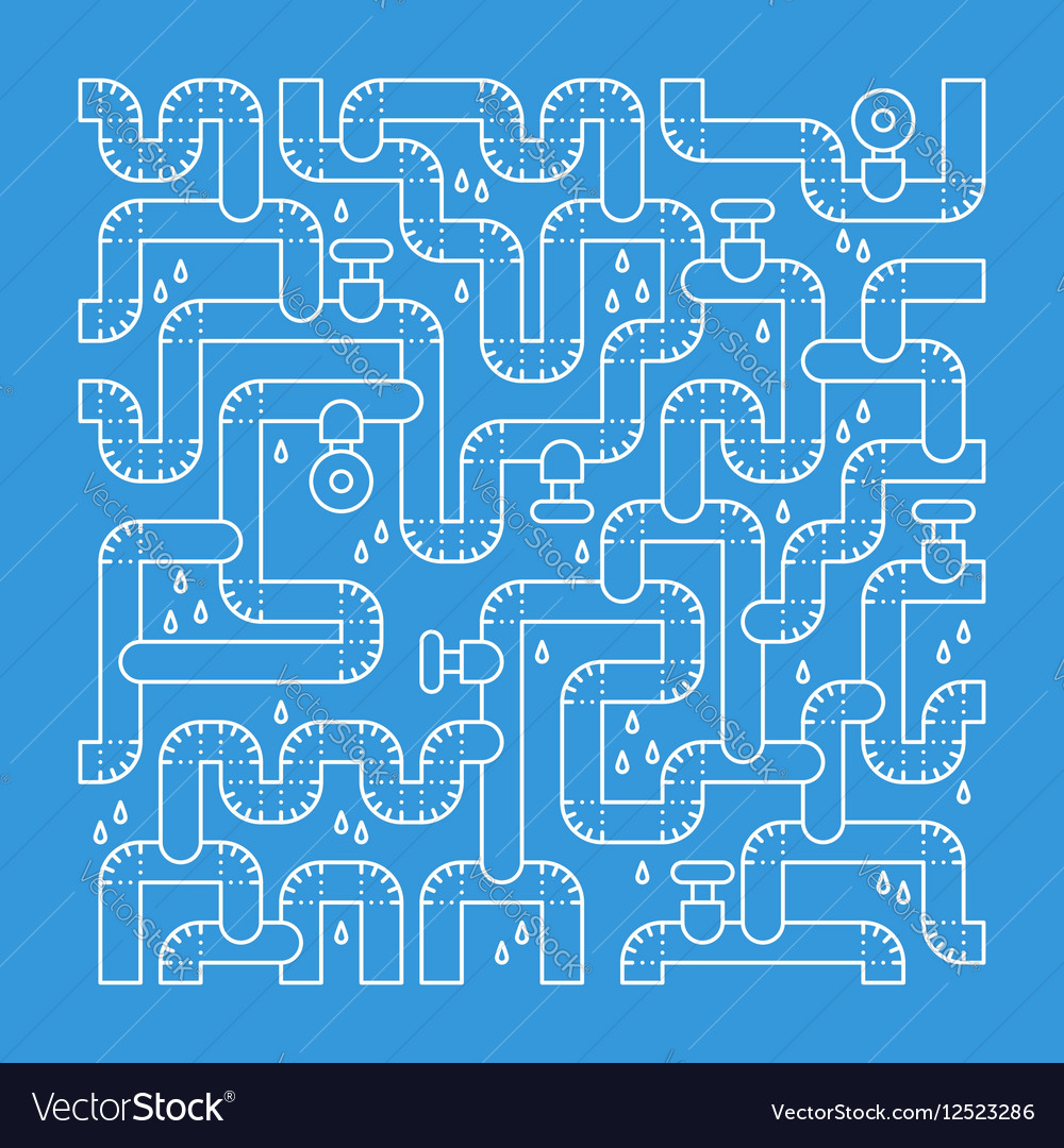 Plumbing services concept backdrop vector image