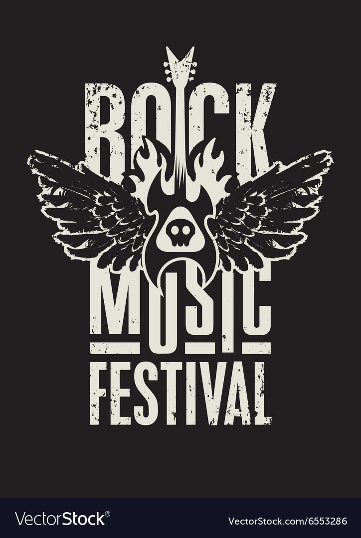 Rock music festival vector image