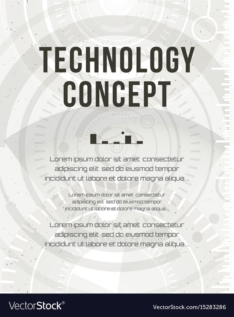 Technology report flyer design template brochure Vector Image