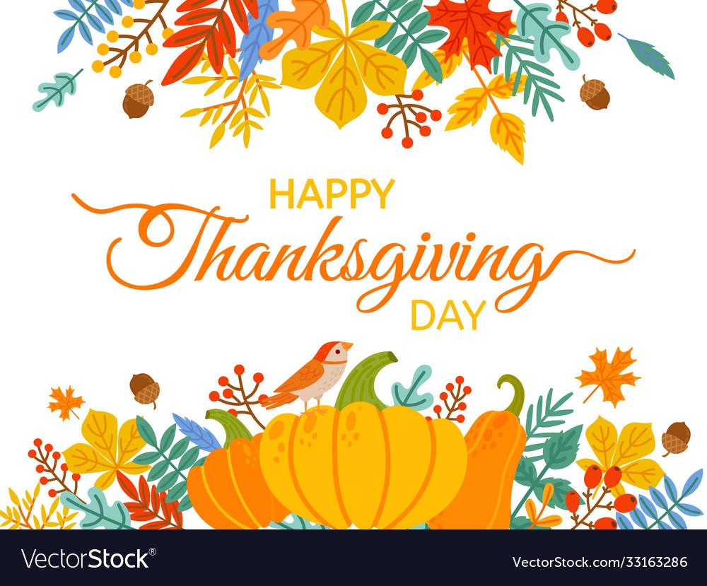 Thanksgiving day hand drawn happy thanksgiving