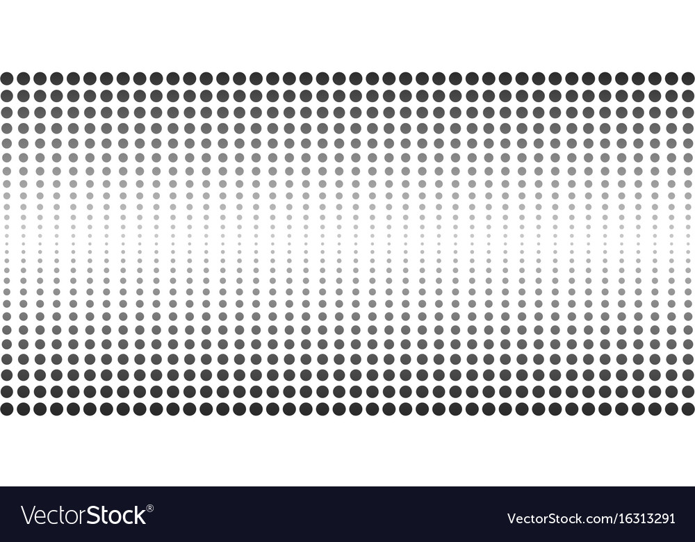 Abstract halftone dotted banner