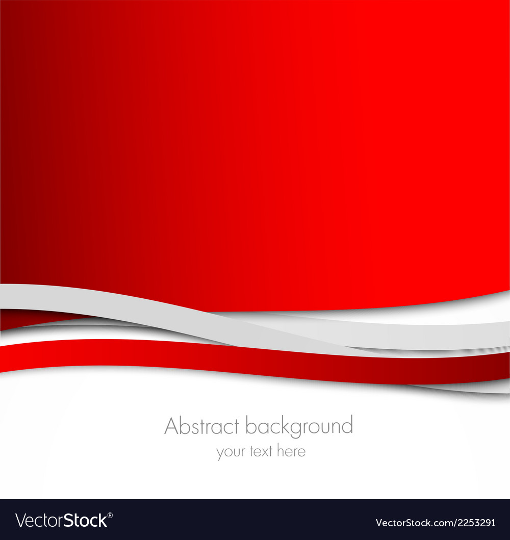Abstract wavy red background