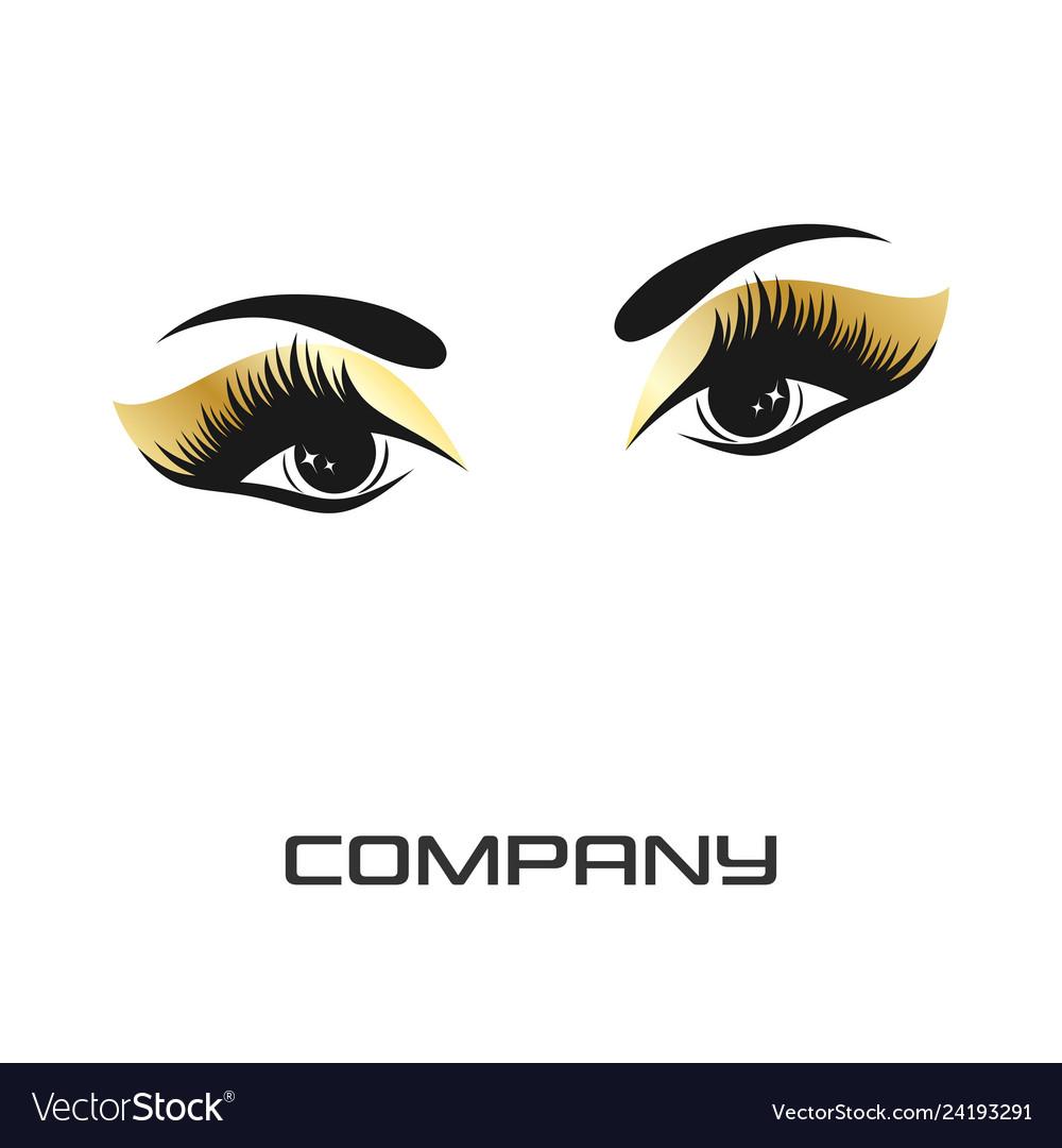 Eyes and eyelashes logo