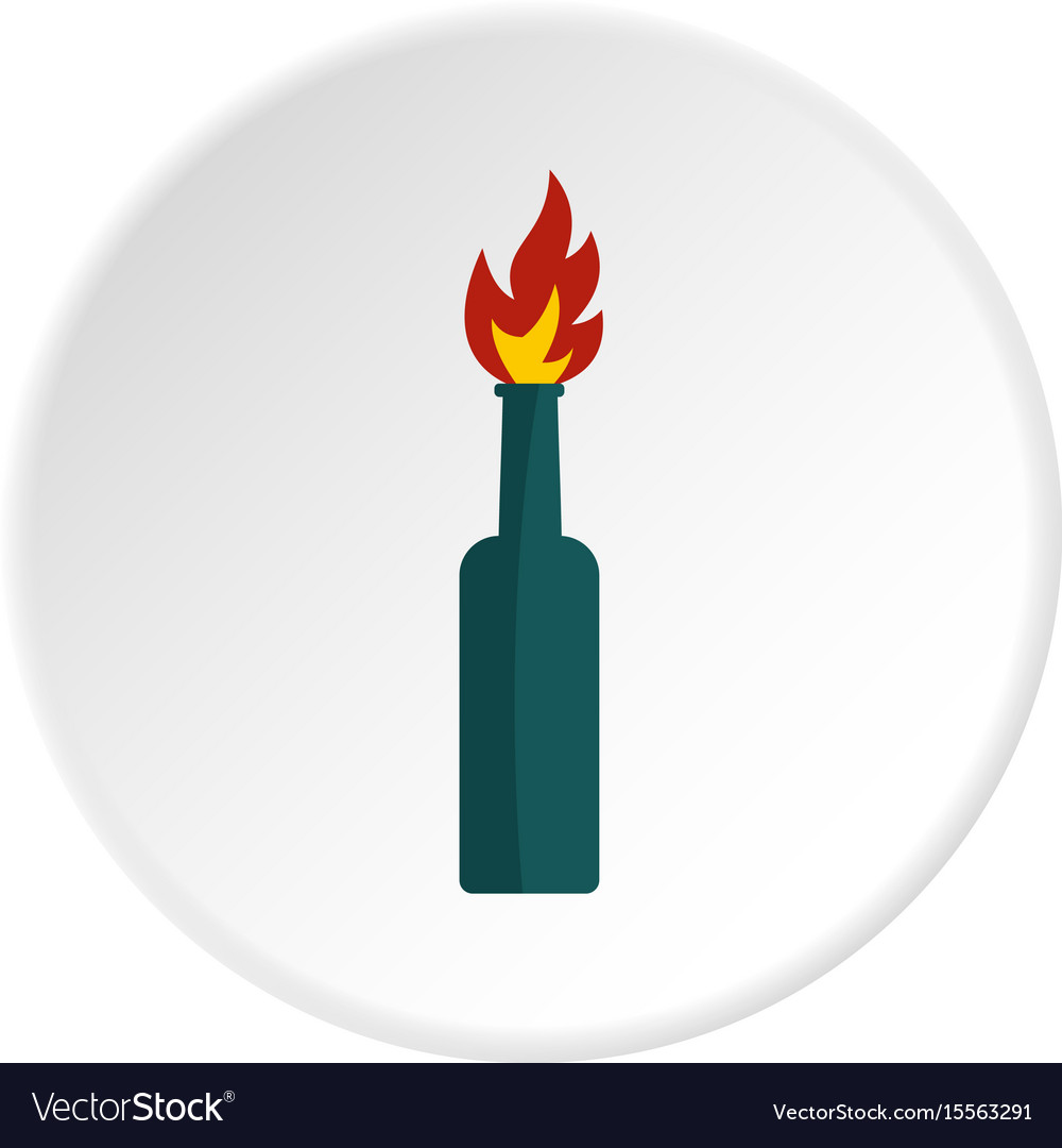 Fire bottle icon circle vector image