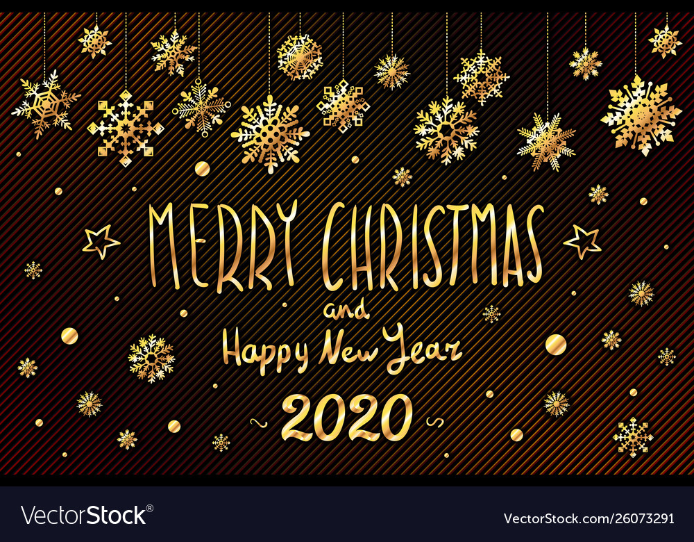Christmas 2020.Gold Merry Christmas And Happy New Year 2020 Year