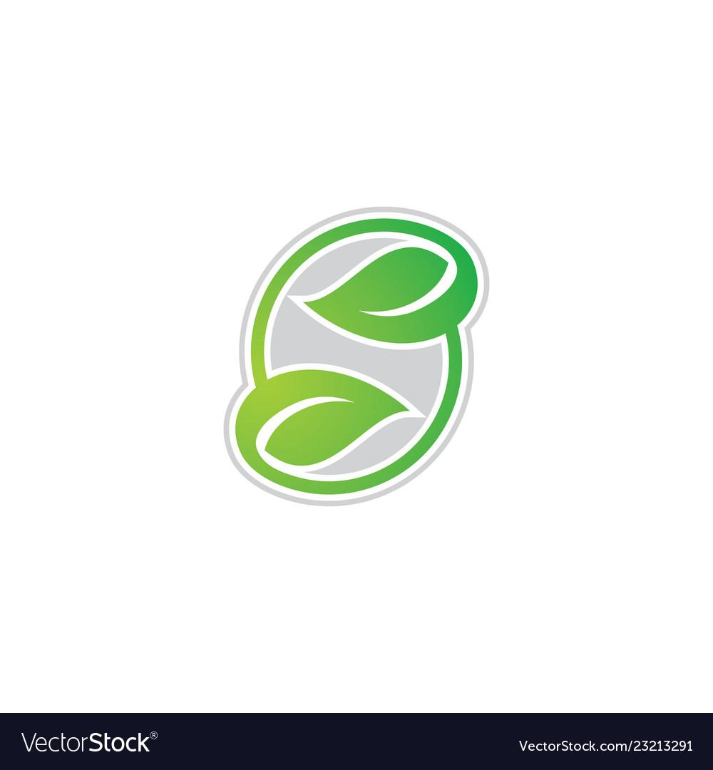 Letter s leaf eco logo