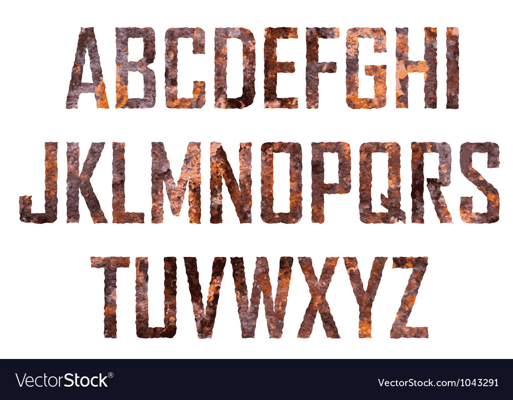 Rusted big letters