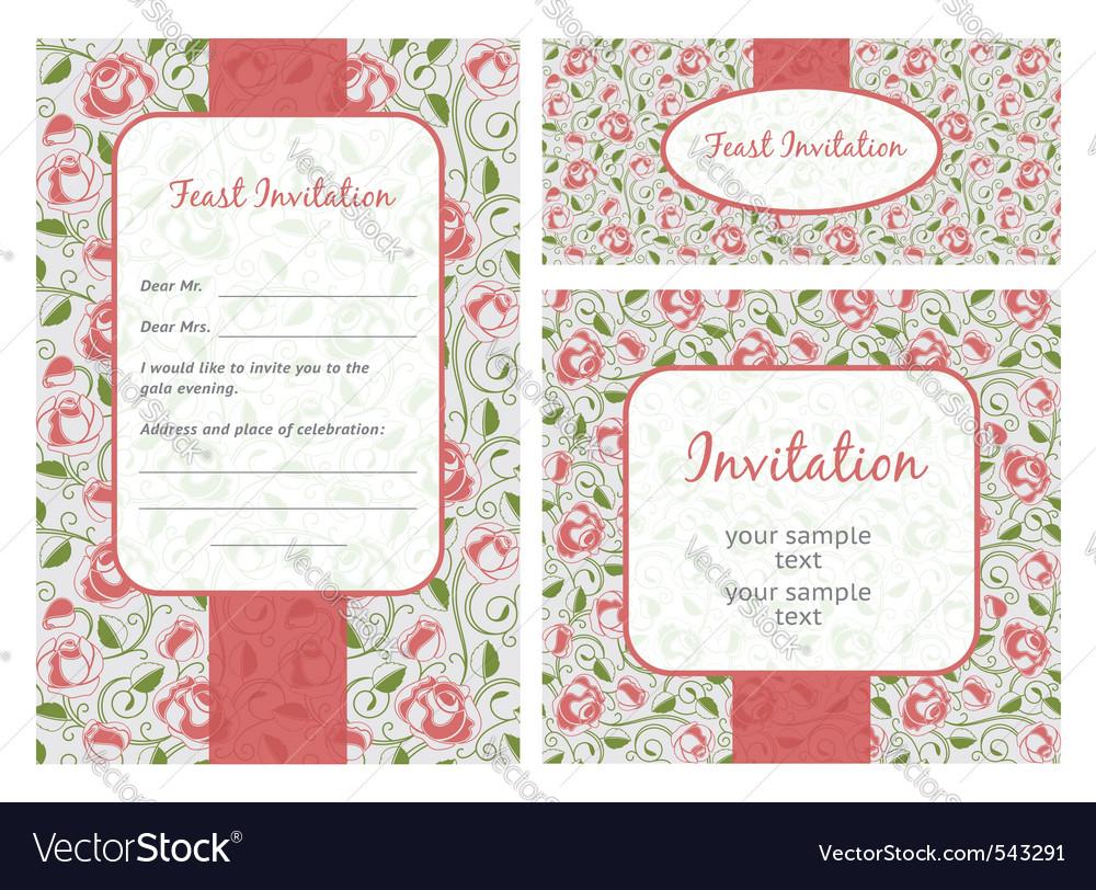 Set of ornate frames wedding template vector