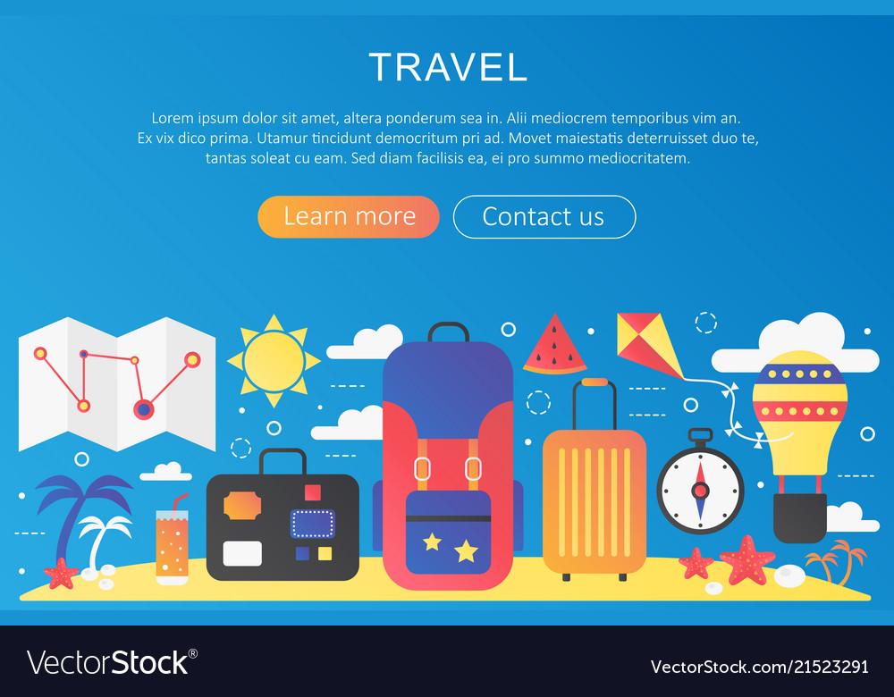 Trendy flat gradient color travel trip
