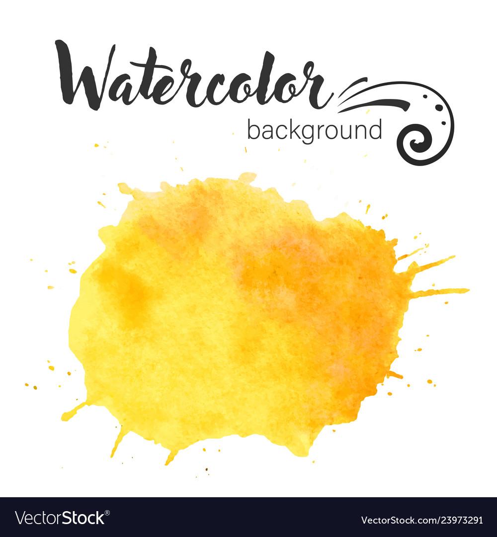 Watercolor paint blob watercolor paint