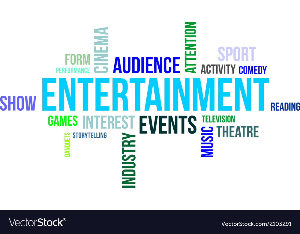 Word cloud entertainment vector image