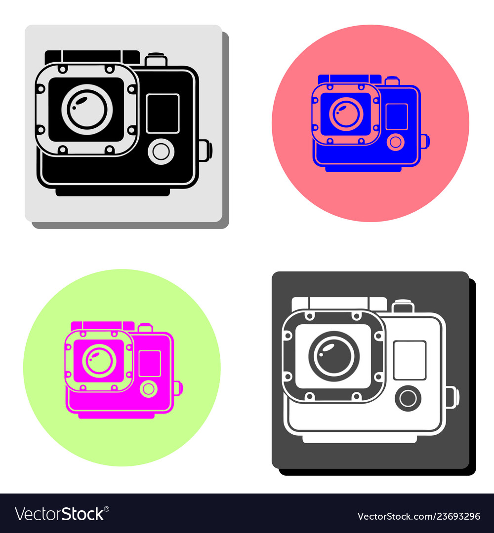 Action camera flat icon
